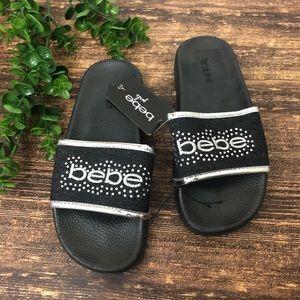 NWT Bebe Girls Slide Sandals size 2/3